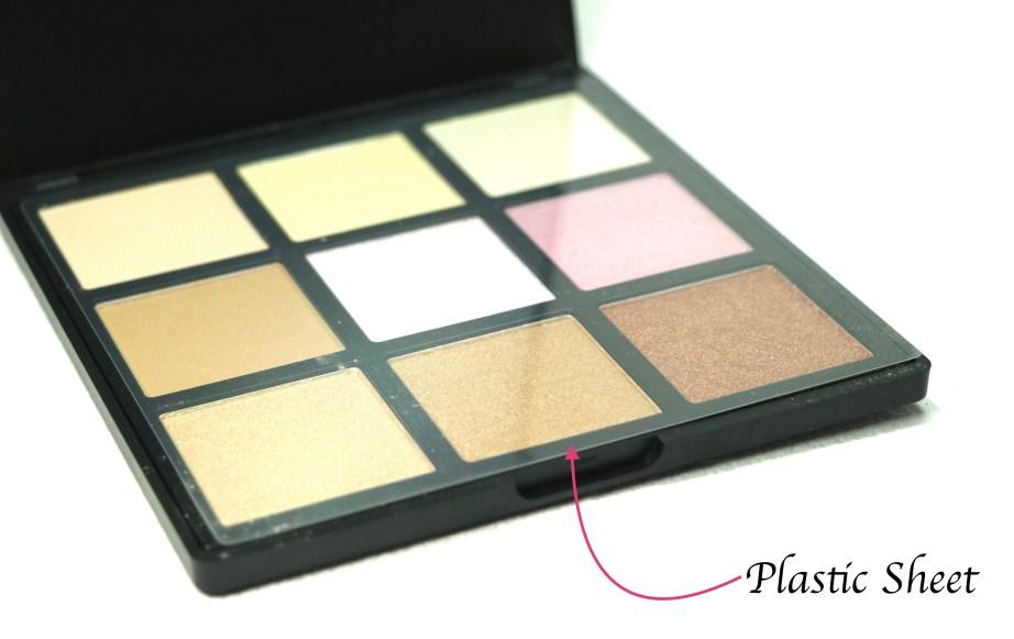 Morphe Deysi Danger Highlight Palette Review, Swatches Plastic sheet