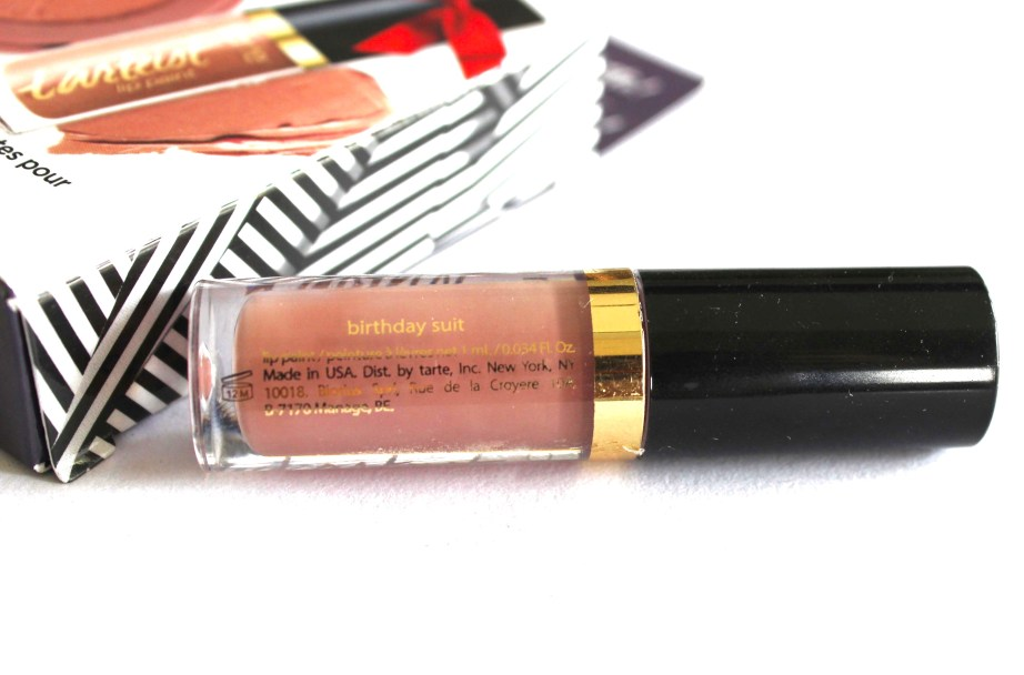 Tarte Birthday Suit Tarteist Creamy Matte Lip Paint Review, Swatches back