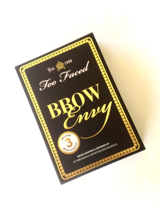 Too Faced Brow Envy Brow Shaping & Defining Kit Review, Swatches Box