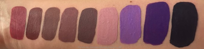 All Jeffree Star Velour Liquid Lipsticks Shades Review, Swatches Doll Parts, Androgyny, Deceased, Sagittarius, Scorpio, Virginity, Blow Pony, I'm Royalty, Abused MBF