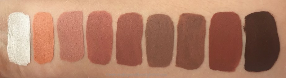 All Jeffree Star Velour Liquid Lipsticks Shades Review, Swatches Drug lord, Nude Beach, I'm Nude, Mannequin, Celebrity Skin, Posh Spice, Daddy, Leo, Dominatrix MBF