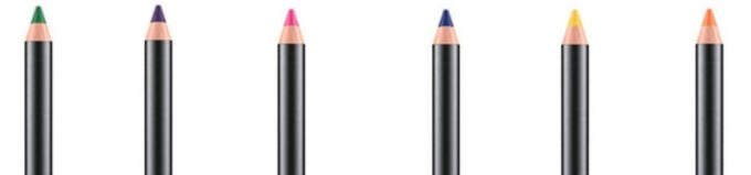 All MAC Work It Out Chromagraphic Pencils Shades Review, Swatches Landscape Green, Rich Purple, Process Magenta, Marine Ultra, Primary Yellow, Genuine Orange tip
