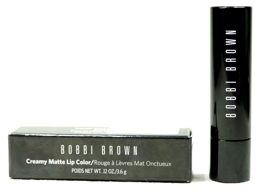 Bobbi Brown Creamy Matte Lip Color Calypso Review, Swatches front