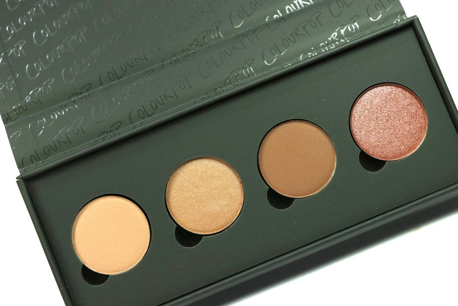 ColourPop Sonya Esman Gemini by Night Pressed Powder Shadow Palette golden gate bridge hidden hills manhattan coffee run moscow sunrise Review, Swatches MBF