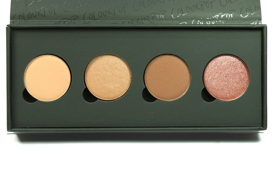 ColourPop Sonya Esman Gemini by Night Pressed Powder Shadow Palette golden gate bridge hidden hills manhattan coffee run moscow sunrise Review, Swatches