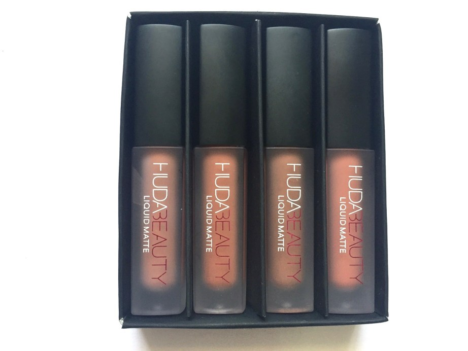 Huda Beauty The Nude Edition Liquid Matte Minis Lipstick Set Review, Swatches MBF