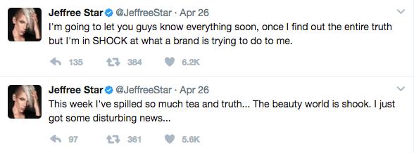 Jeffree Star confronts Too Faced Founder Jerrod Blandino for Tarte & NikkieTutorials 2