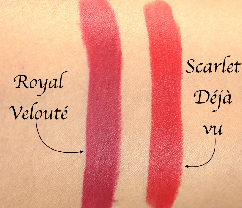 L'Oreal Paris Rouge Magique Lipstick Royal Velouté 909 Vs Scarlet Deja Vu 911