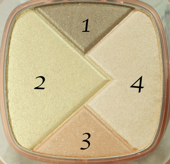 L'Oreal True Match Lumi Powder Glow Illuminator Blush & Highlight Review, Swatches closeup