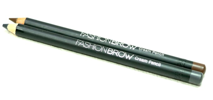 Maybelline Fashion Brow Cream Pencil Brown & Dark Gray Review, Swatches blog MBF
