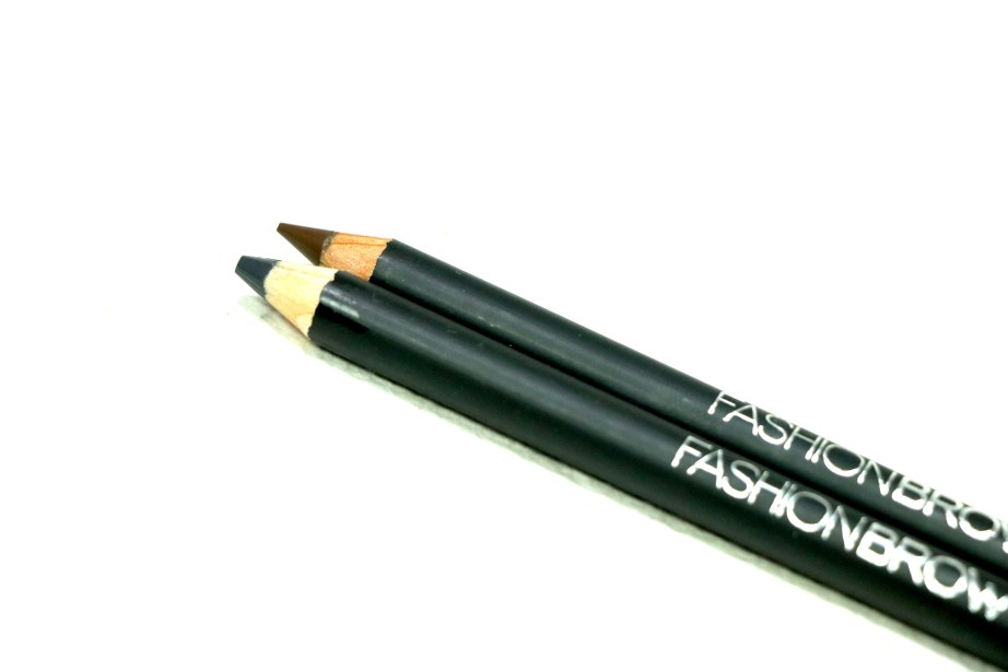 Maybelline Fashion Brow Cream Pencil Brown & Dark Gray Review, Swatches focus