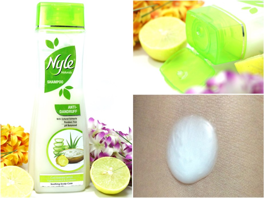 Nyle Naturals Anti Dandruff Shampoo Review Swatch