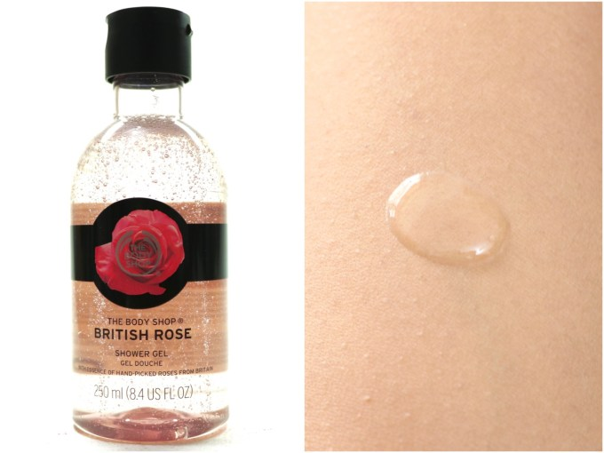 The Body Shop British Rose Shower Gel Review swatches