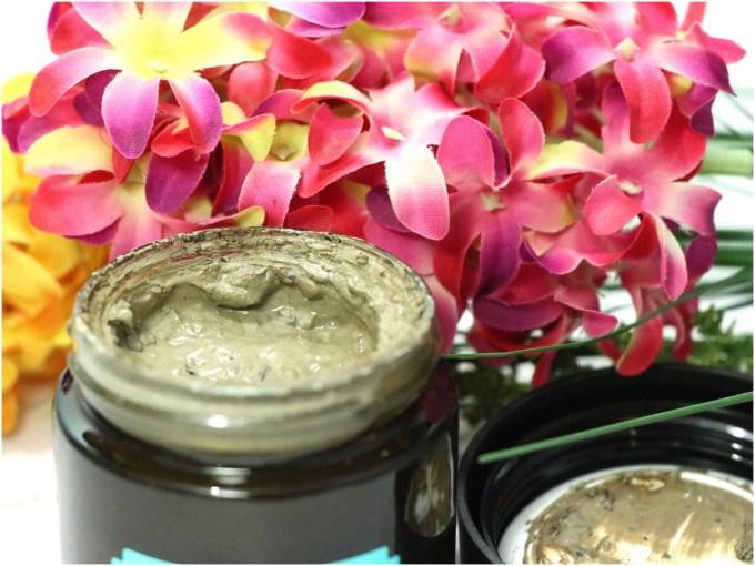 The Body Shop Himalayan Charcoal Purifying Glow Mask Review, Swatches closeup
