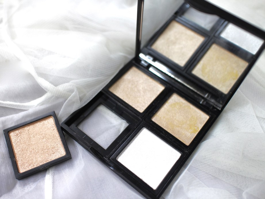 Faresat 4 in 1 Baking Powder Highlighter Palette Review, Swatches MBF Blog
