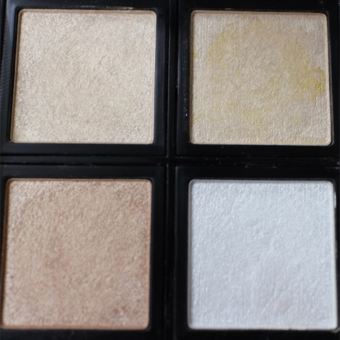 Faresat 4 in 1 Baking Powder Highlighter Palette Review, Swatches focus