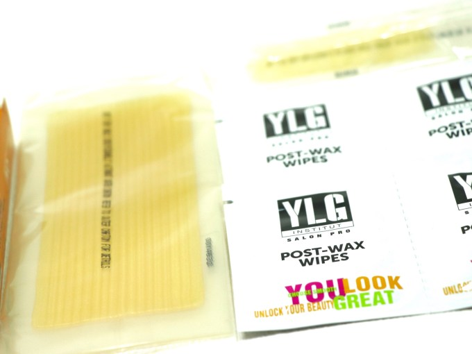 YLG Gold Glitter Brightening Cold Wax Strips Review wipes