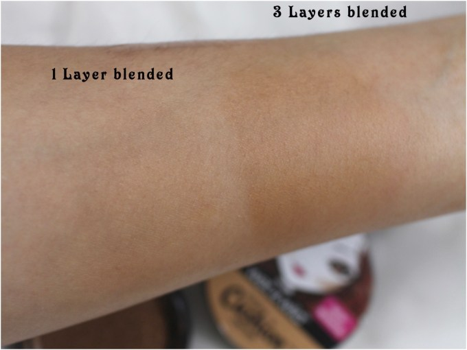 Wet n Wild Mega Cushion Contour Cafe au Slay Review, Swatches layers blended