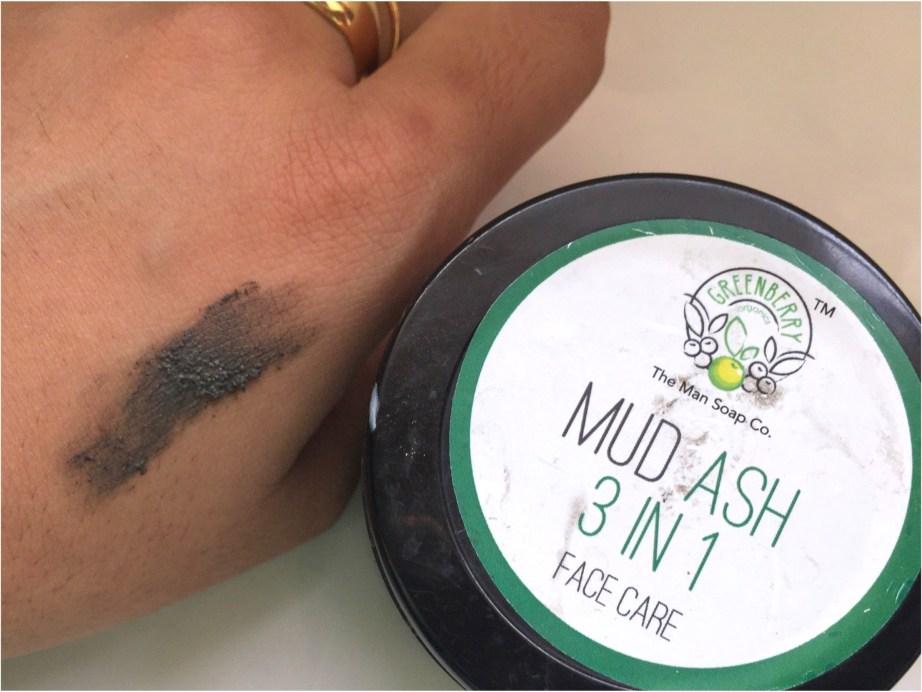 Greenberry Organics Mud Ash 3 In 1 Cleanser, Scrub & Mask Review Blog MBF