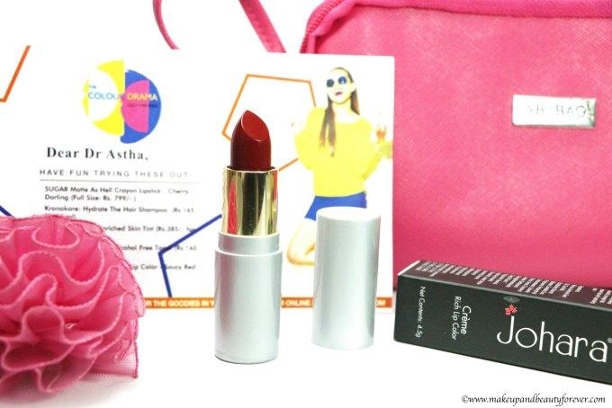 Johara Creme Rich Lip Color Saucey Red