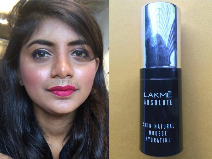 Lakme Absolute Skin Natural Hydrating Mousse Foundation Review, Swatches MBF Makeup Look