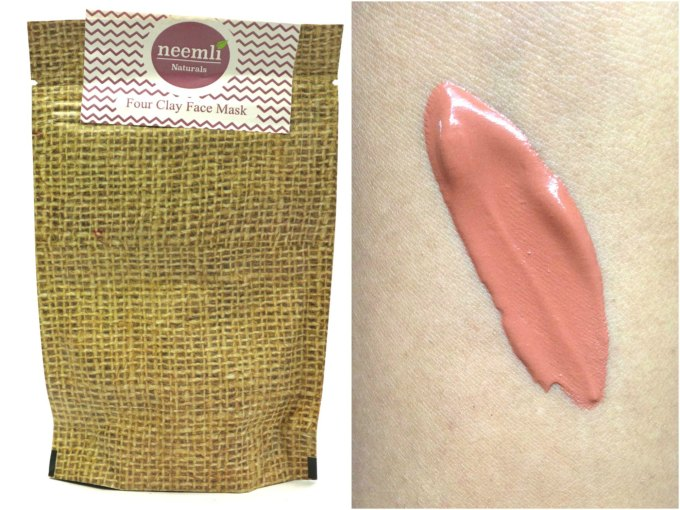 Neemli Four Clay Face Mask & Body Wrap Review Swatches