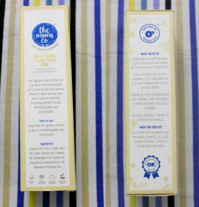 The Moms Co Natural Stretch Oil Review box