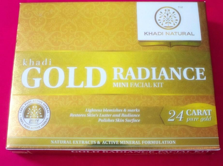 Khadi Gold Radiance Facial Kit