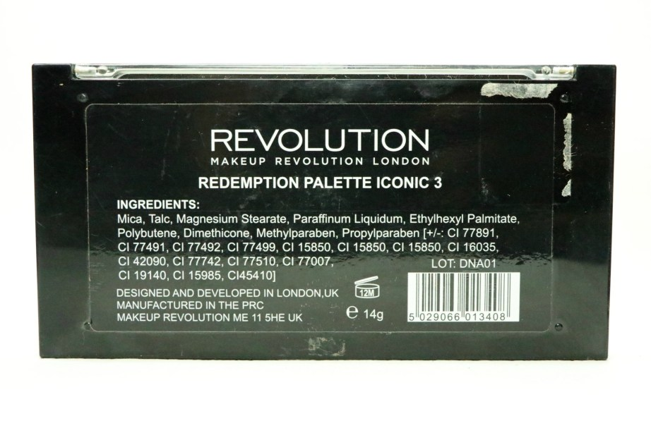 Makeup Revolution Iconic 3 Redemption Eyeshadow Palette Review, Swatches Ingredients