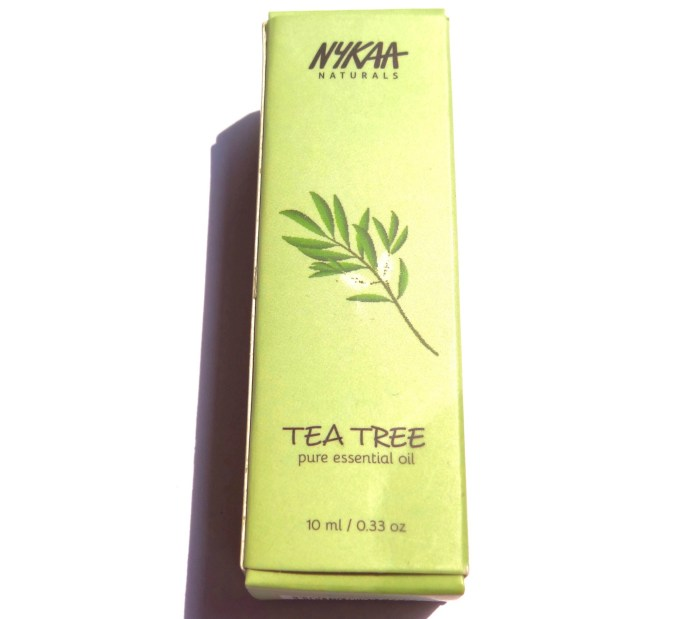 Nykaa Naturals Pure Essential Oil Tea Tree Review 5