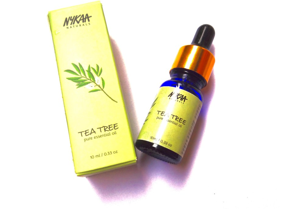 Nykaa Naturals Pure Essential Oil Tea Tree Review