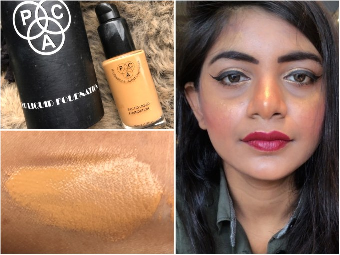 PAC HD Liquid Foundation Review, Swatches MBF Makeup Look