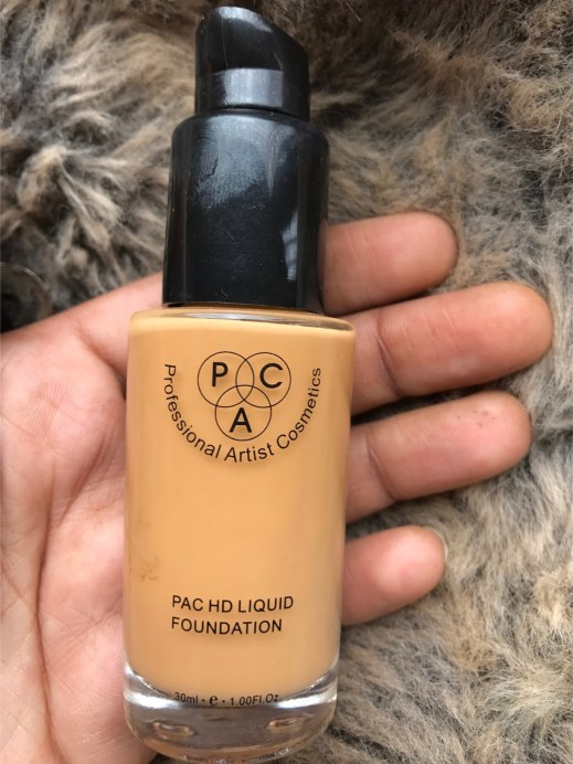 PAC HD Liquid Foundation Review, Swatches focus