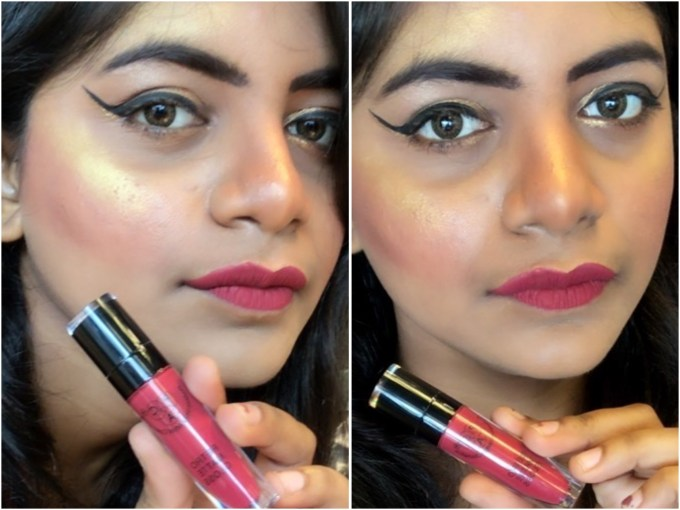 PAC Retro Matte Gloss Shade 19 Review, Swatches MBF Makeup Look