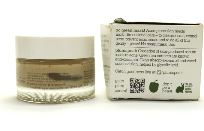 Plum Green Tea Clear Face Mask Review Info