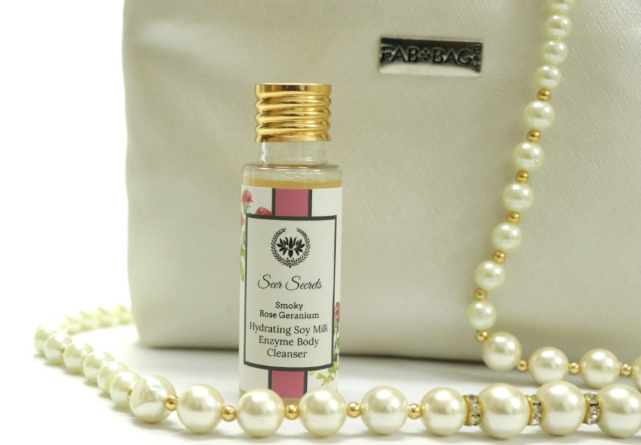 Seer Secrets Smoky Rose Geranium Soy Milk Enzyme Body Cleanser