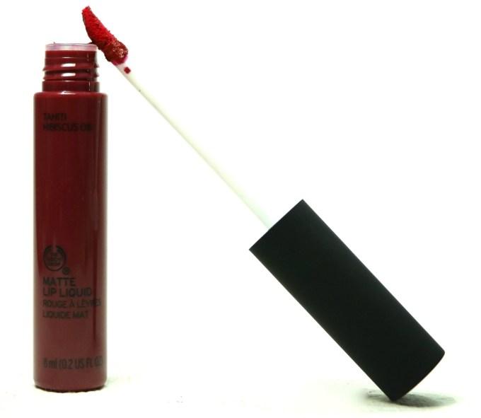 The Body Shop Matte Lip Liquid Lipstick Tahiti Hibiscus Review, Swatches MBF Blog