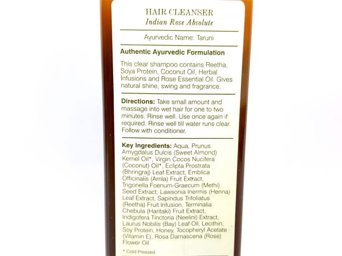 Forest Essentials Indian Rose Absolute Hair Cleanser Shampoo Review Details
