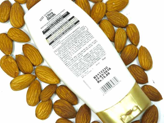 Garnier Ultra Blends Soy Milk Almonds Conditioner Review details