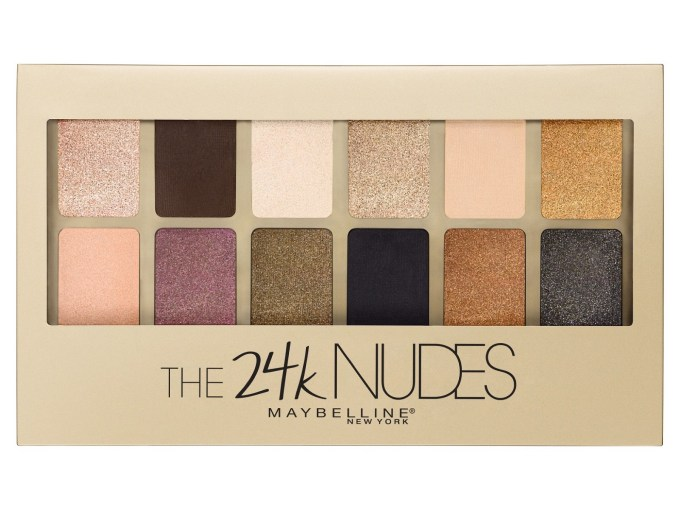 Maybelline 24K Nudes Eyeshadow Palette Review, Swatches Front