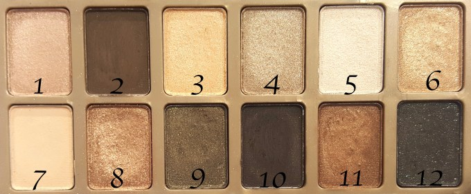 Maybelline 24K Nudes Eyeshadow Palette Review, Swatches focus