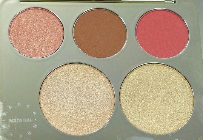 Becca Jaclyn Hill Champagne Collection Face Palette Review, Swatches closeup MBF Blog