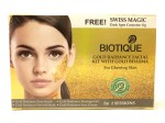 Biotique Gold Radiance Facial Kit with Gold Bhasma Review, Swatches