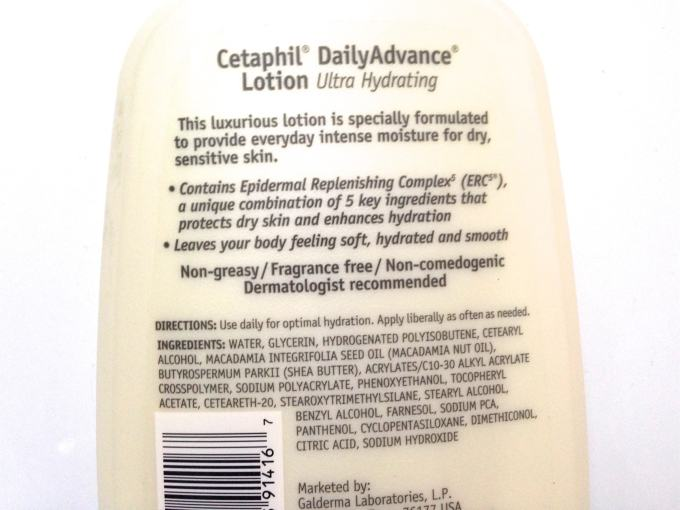 Cetaphil DailyAdvance Ultra Hydrating Lotion Review Details