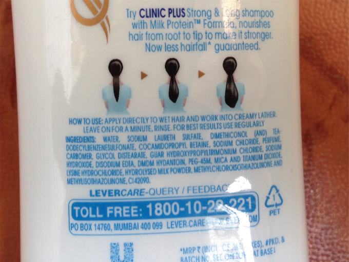 Clinic Plus Strong & Long Health Shampoo Review Ingredients
