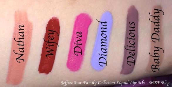 Jeffree Star Family Collection All Velour Liquid Lipsticks