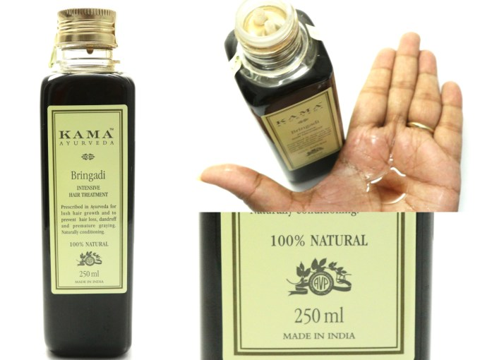 Kama Ayurveda Bringadi Intensive Hair Treatment Oil Review Swatch