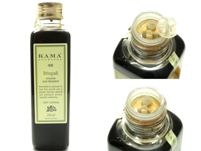 Kama Ayurveda Bringadi Intensive Hair Treatment Oil Review Unique dispenser