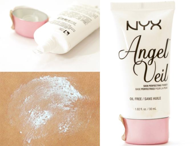 NYX Angel Veil Skin Perfecting Primer Review, Swatches MBF Blog