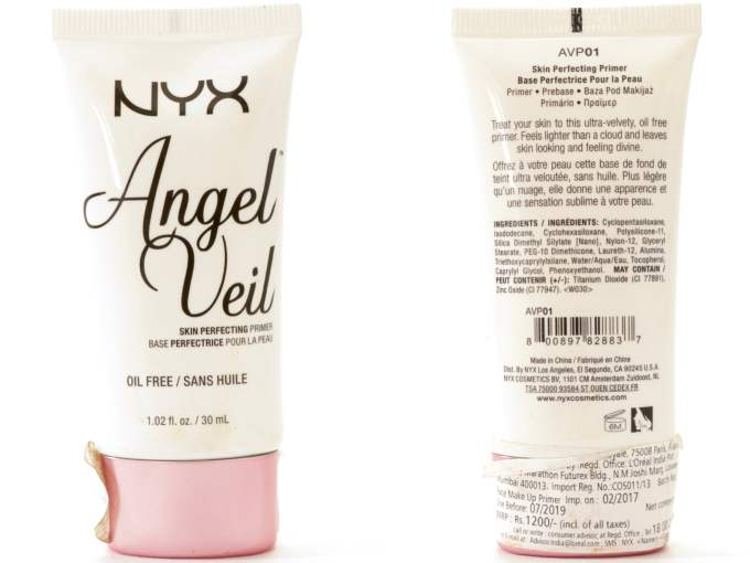 NYX Angel Veil Skin Perfecting Primer Review, Swatches blog MBF
